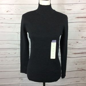 NWT Ribbed Mock Neck Sweater, Size M